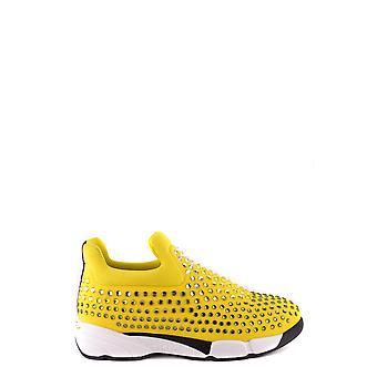 Pinko Ezbc056081 Women's Yellow Nylon Slip On Sneakers