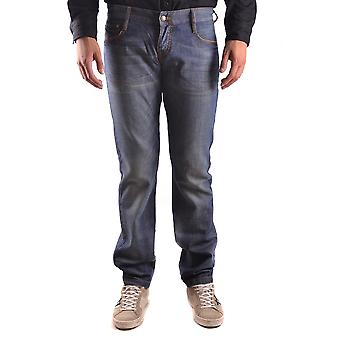 John Richmond Ezbc082055 Men's Blue Cotton Jeans