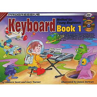 Progressive Keyboard Method for Young Beginners - Bk. 1 by Andrew Scot