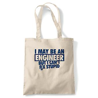 I May Be An Engineer Funny Tote - Reusable Shopping Canvas Bag Gift