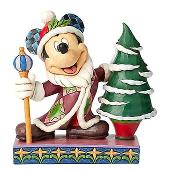 Disney tradities Mickey Mouse vader Christmas ' Jolly OL St Mick ' beeldje