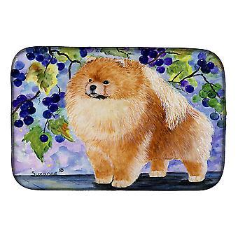 Carolines Treasures SS8251DDM Pomeranian Dish Drying Mat