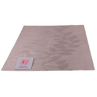 iStyle-Teslin geweven placemat 30cm x 45cm-taupe blad
