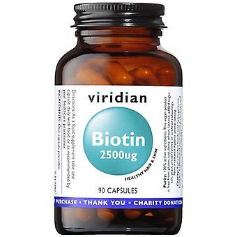 Viridian Biotin 2500ug Veg Caps 90 (203)