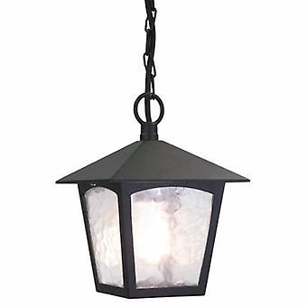 1 luce esterna della catena del soffitto della lanterna nero IP43