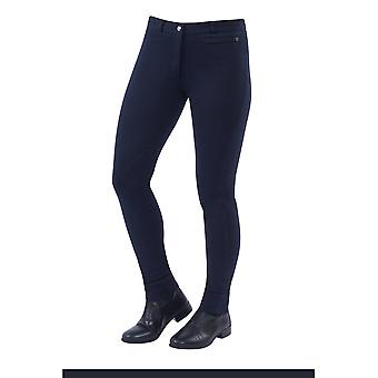 Dublin Supa-fit dame zip up knæ patch ridebukser-navy blå