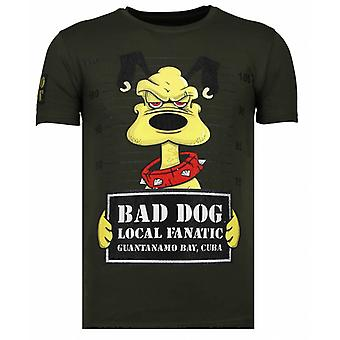 Bad Dog-Rhinestone T-shirt-Khaki