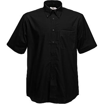 Fruit Of The Loom - Mens Oxford Short Sleeve Shirt