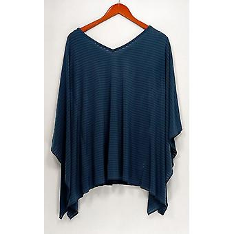 Women with Control Sweater XXS Shadow Stripe Caftan w/ Tank Blue A306437