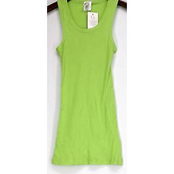I/A Icon kleding top Basic Scoop nek geribbeld tank groen Womens
