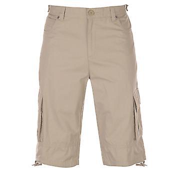 Firetrap mens Cargo shorts byxor byxor bottoms bomull zip tonal sömmar