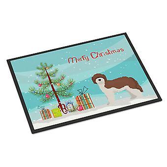Carolines Treasures  CK3867MAT Sheepadoodle Christmas Tree Indoor or Outdoor Mat