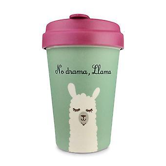 13.5oz 400ml ايكو أكواب القهوة القابلة لإعادة المعالجة، الخيزران الطبيعي مع قمم غطاء الخيزران والأكمام الحرارية، وألوان مختلفة