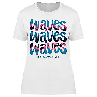 Summer Surf Cool Waves Tee Women's -Image by Shutterstock
