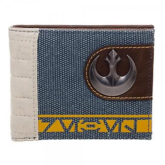 Wallet - Rogue One - Rebel Mixed Material Bi-Fold New Licensed mw4ksbstw