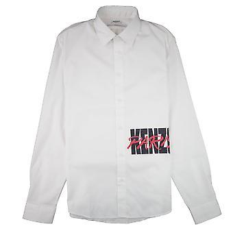 Kenzo Script Logo Chemise à manches longues Blanc