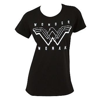 Ihme nainen naisten musta t-paita