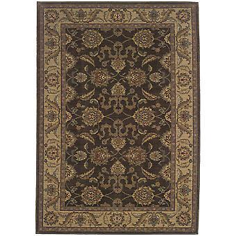 Allure 012b1 brown/beige oriental area rug (6'7