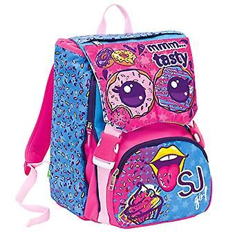 Extensive Backpack Big - Faces from SJ - 28 Lt - Blue - Dual - School & Leisure