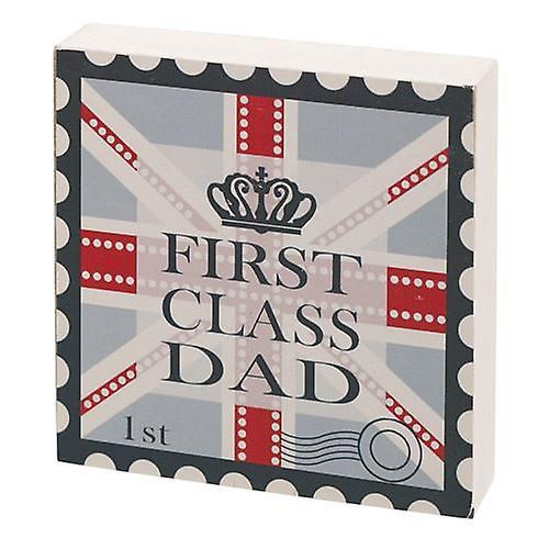 First Class Dad Gift Block
