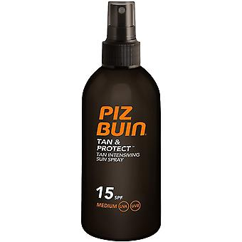 Piz Buin Tan Beskytt Søn spray Spf15 medium 150 ml