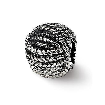 925 Sterling hopea kiillotettu Vintage loppuun Reflections Ball of Yarn Helmi Charm riipus kaulakoru korut lahjat naisille
