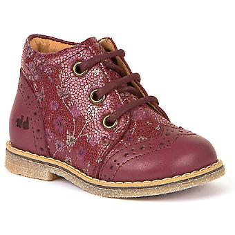 Froddo Girls G2130181-1 Lace Boots Bordeaux