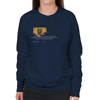 A. P. O. H Leonardo da Vinci Mona Lisa mennesker i realisering citat dame ' s sweatshirt