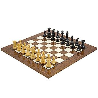 Windsor Cocoa Burl Luxury Chess Set