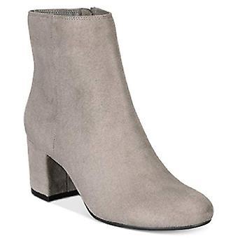 ZIGIny Nanon Block-Heel Booties Grey Size 10M