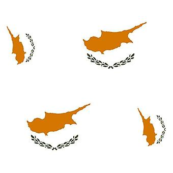 4 X Sticker Sticker Sticker Car Motorcycle Valise Pc Portable Flag Cyprus Cypriot