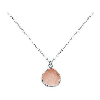 GEMSHINE halskjede med Rose agat druas eared dråper i 925 sølv eller gullbelagt