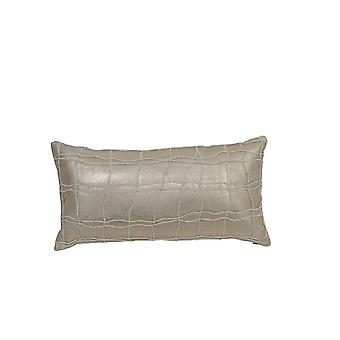 Lys & levende pude 60 x 30 Cm AGRICE guld-naturlig