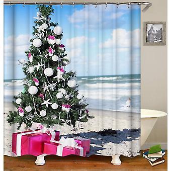 Christmas Spirit At The Beach Shower Curtain