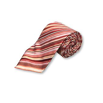 Profuomo tie in pink/red various stripes