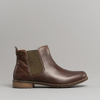 Barbour Abigail Ladies Leather Chelsea Boots Wine