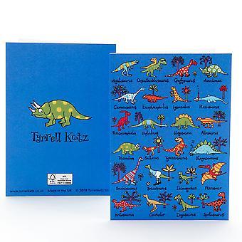 Carte de voeux de dinosaures Tyrrell Katz