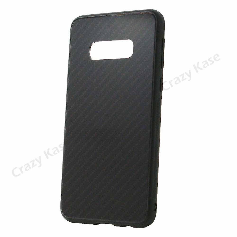 Coque Galaxy S10e Noir Rigide Effet Carbone - Crazy Kase