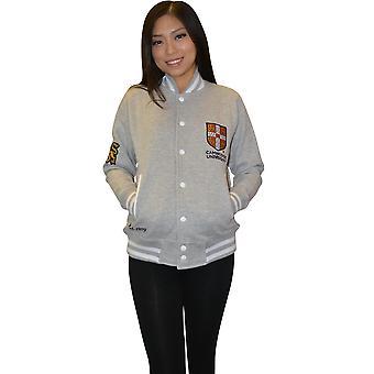 Cu170 licentie Cambridge University Unisex Varsity Jacket sport grijs kleur