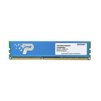 باتريوت التوقيع الخط 8Gb Ddr3 1600 512X8 Cl11 بالوعة الحرارة
