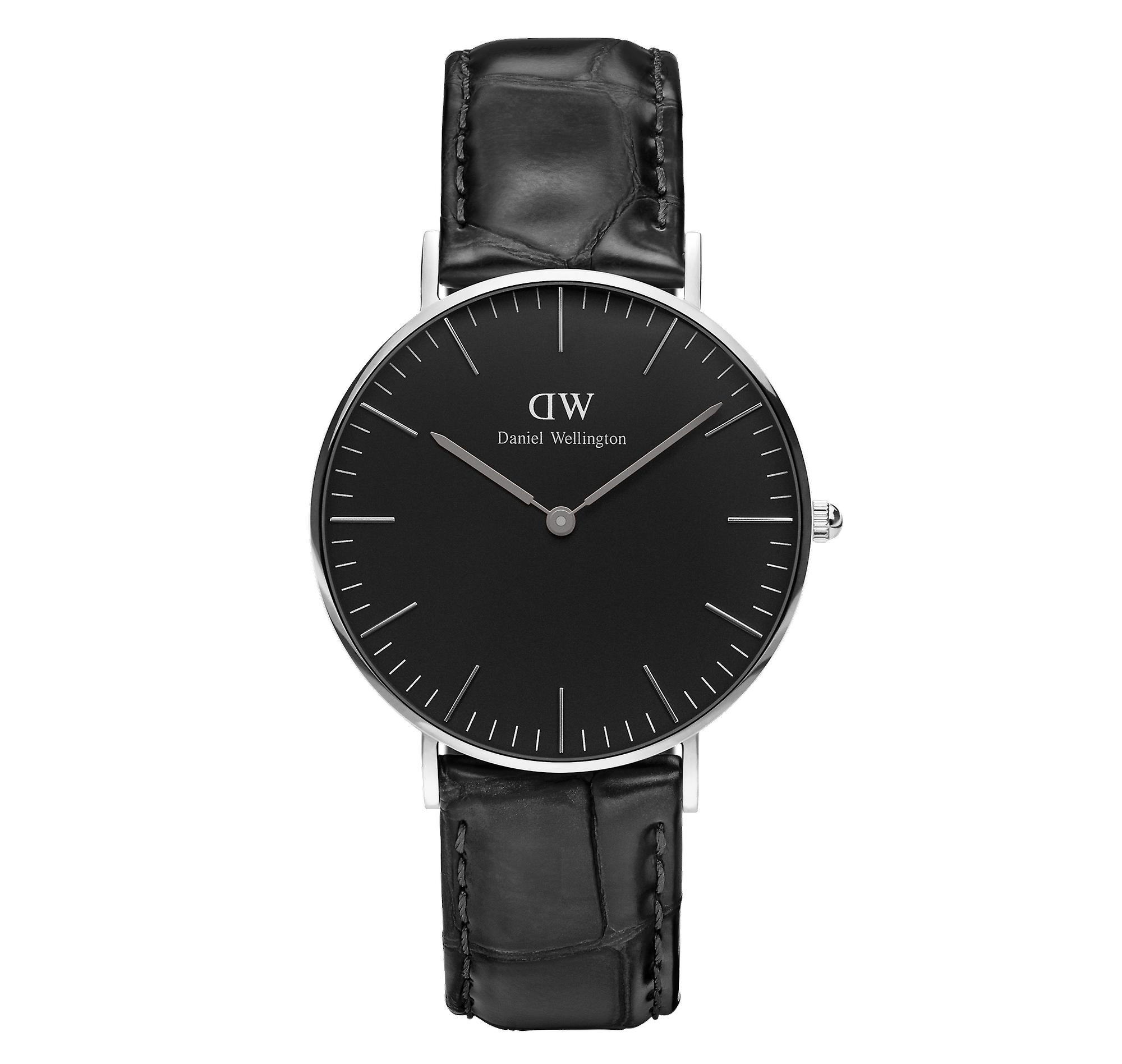 Daniel Wellington Classic Black Stainless Steel Leather Strap Reading Unisex Watch DW00100147 36mm Case