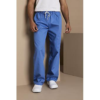 SIMON JERSEY Unisex Smart Scrub Trousers, Hospital Blue