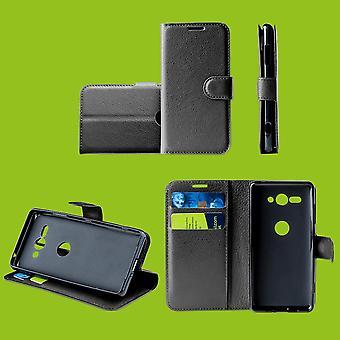 För Motorola Moto One Vision Pocket Plånbok Premium Svart Skyddande fodral fodral fall nya tillbehör