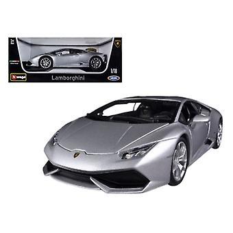 Lamborghini Huracan LP610-4 Silver 1/18 Diecast Car Model par Bburago