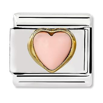 Nomination Classique Pink Coral Heart Link Charm 030501/10