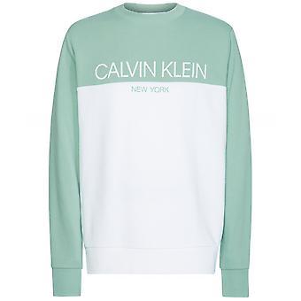 Calvin Klein Crew Neck Colour Block Sweatshirt
