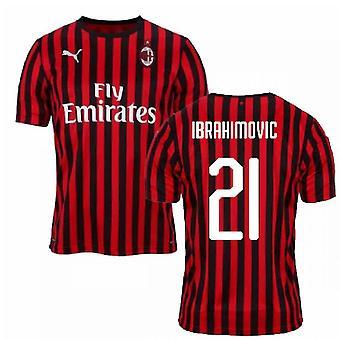 2019-2020 ميلان بوما أصيلة الرئيسية لكرة القدم قميص (إبراهيموفيتش 21)
