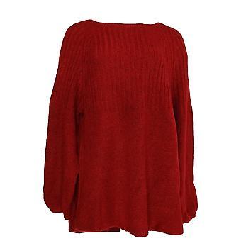 Estilo e Co. Mulheres's Plus Sweater Rib Túnica True Red