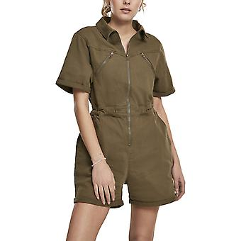 Urban Classics Ladies - Short Boiler Suit olive