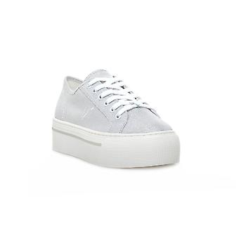 Windsor smith ruby canvas metallic tread silver sneakers fashion